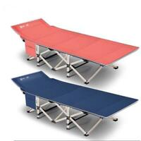 Metal Fold up Guest Visitor Single Foldable Folding Bed Recliner Travel Camping