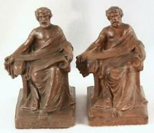 Antique W.B. Weidlich Brothers HOMER  Bronze Metal Bookends