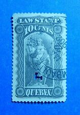 1893 10c CANADA QUEBEC LAW REVENUE VD # QL32 B # 32 USED                 CS32729