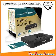 DECODER SATELLITARE DVB-S2 TIVUSAT HUMAX HD-3800S2 - CON TESSERA + OMAGGIO