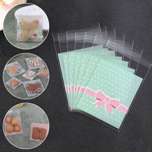 100pcs Gift Bags Self Adhesive Candy Cookie Bags Packaging Bags Seal Wrappings