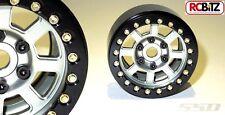 """SSD 1.9"""" Assassin Aluminium Beadlock Wheels GREY Pair 2 SSD00010 12mm Hex"""