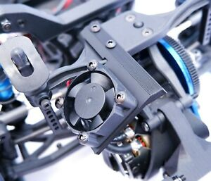 DR10 Motor Cooling Fan Mount (30x30mm) Black No Prep NPRC Team Associated