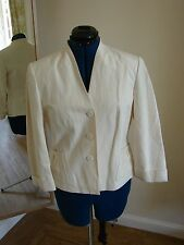worn twice, Phase Eight size 12 smart silk and ivory ladies lined jacket, vgc