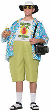 Adult Tropical Tourist Costume Unisex Funny Tacky Luau Party Size Standard