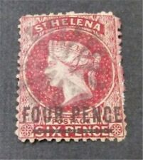nystamps British St. Helena Stamp # 21 Used $73