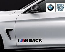 BMW I M BACK M Power Performance Decal Sticker Graphics