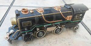 American Flyer 0 Gauge Prewar Locomotive Black w/Copper Trim PARTS or REPAIR