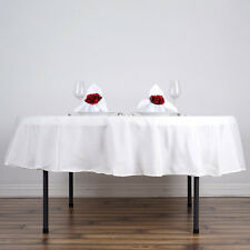 """15 IVORY 90"""" ROUND POLYESTER TABLECLOTHS Wedding Catering Restaurant Supplies"""