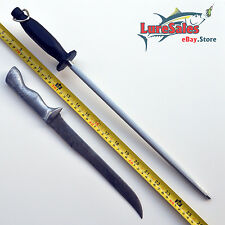 """OVER SIZE METAL HANDLE FILLET BONING KNIFE WITH 14"""" STAINLESS STEEL SHARP STICK"""