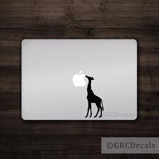 Giraffe - Mac Apple Logo Cover Laptop Vinyl Decal Sticker Macbook Animal Zoo