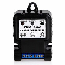 12V / 6V 10A PWM CHARGE CONTROLLER - SOLAR - WIND - COMPACT - EASY INSTALL