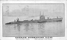 POSTCARD  SHIPS    GERMAN  Submarine  UC  95