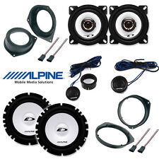 6 Speakers kit for FIAT GRANDE PUNTO Alpine with adapters and spacer rings