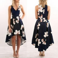 Summer Women Sleeveless Bodycon Casual Party Evening Cocktail Long Skater Dress