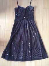 BCBG Max Azaria Brown Sequin Dress Size S
