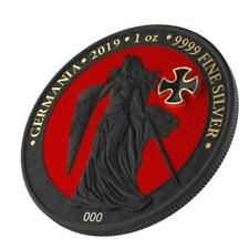 Germania 2019 5 Mark GERMANIA Iron Cross 1 Oz Silver Coin