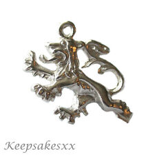 Argento Sterling inglese Lion-UK 3D 925 NUOVO CIONDOLO CHARMS