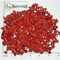 RED JASPER Africa, mini-xsm tumbled 1/2 lb bulk stones brick