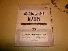 1942 Nash DuPont Dulux Color Chip Paint Sample - Vintage