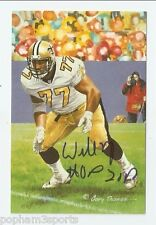 WILLIE ROAF Signed/Autographed GOAL LINE ART CARD GLAC HOF 2012 Saints w/COA