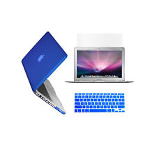 """3 in 1 Rubberized ROYAL BLUE Case for Macbook PRO 13"""" + Key Cover + LCD Screen"""