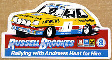 Russell Brookes / Andrews Vauxhall Chevette (1) Rally / Motorsport Sticker Decal