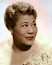 "ELLA FITZGERALD JAZZ SINGER AFRICAN AMERICAN 8x10"" HAND COLOR TINTED PHOTOGRAPH"