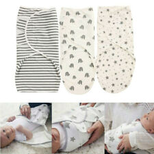 Infant Baby Swaddle Wrap Newborn Blanket Breathable Organic Cotton 0-3 months