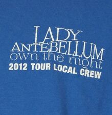 "Lady Antebellum 2012 Local Crew ""Own the Night"" Royal Blue T-Shirt XL"