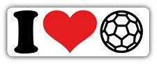 I Love Soccer Car Bumper Sticker Decal 6'' x 2''