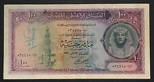 EGYPT 100 POUNDS  Pick 34 dated 1952 Rare Note VF+