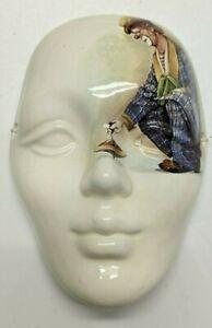 Royal Grafton - Antique Bone China Clown Wall Mask circa 1950s - 1960s {UK}