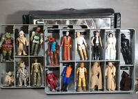 25 VINTAGE Star Wars ACTION FIGURES LOT VINYL COLLECTORS CASE KENNER figure