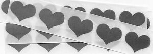 50 x 1 Inch Silver Heart Scratch Off Stickers - Wedding, Engagement, Anniversary
