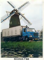 Scania T82 Prospekt NL 1982 10/82 brochure prospectus truck broschyr brosjyre