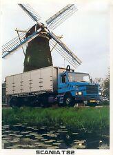 Scania T82 Prospekt NL 10/82 brochure truck 1982 Schweden Nutzfahrzeug Lkw