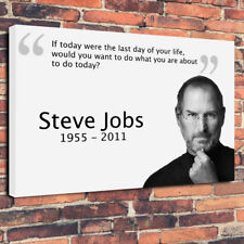 "Steve Jobs Quote Printed Box Canvas Picture A1.30""x20"" 30mm Deep Frame"