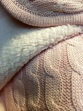 Baby Girl Knitted Blanket Cuddly Throw Knee Rug Pink 75 x 100cm 29.5x39.5""