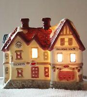 Vintage TUPPERWARE Light-Up Christmas Village RARE Limited Edition 3Pc Promo Set