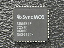 SyncMOS SM89516 8 bit Microcontroller 64KB Flash 1KB Ram PLCC44