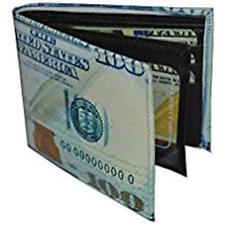 US New 100 Hundred Dollar Bill Bi-Fold Men's Leather Wallet Printed In Gift Box