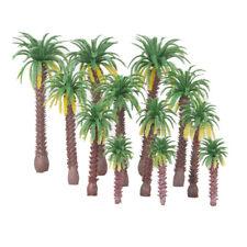 12 Model Coconut Palm Trees HO N OO Scale Train Diorama Beach Forest Scenery