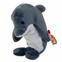 TY Beanie Baby - ECHO the Dolphin (6.5 inch) - MWMTs Stuffed Animal Toy