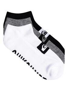 "Large White Men/'s Quiksilver /""Low Socks/"" 2 Pairs"