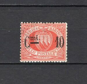 #422 - San Marino - 10 cent sovrastampato, 1892 - Usato