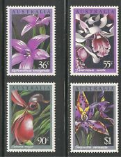Australia #997-1000 (A370) Mnh - 1986 36c to $1 Orchids