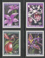 Australia #997-1000 (A370) MNH - 1986 36c to $1 Orchids