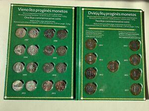 Lithuania  1 & 2 Litas Coin set -UNC-