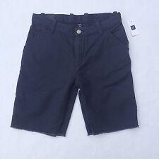 Gap Shorts Kids Cargo Cut Off Frayed Navy Blue Sz 14 Adjustable Waist Cotton NWT
